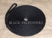10 metre 14mm Black Mooring Line